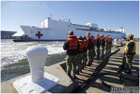 疫情紧急!美国海军2艘医院船出动