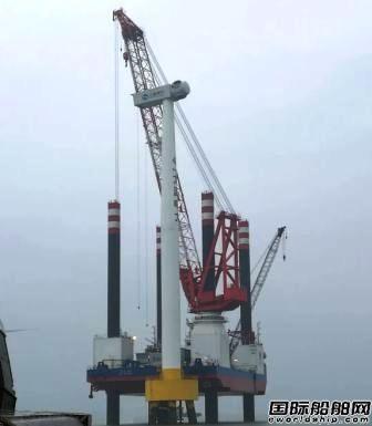 华南船机接获复工后首笔风电安装平台起重机配套大单