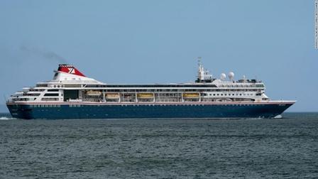 """""""布雷马""""号邮轮停靠古巴 船上人员包机返回英国"""
