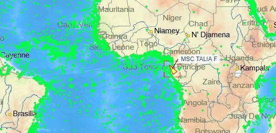 MSC箱船遭几内亚湾海盗袭击7名船员被绑架!