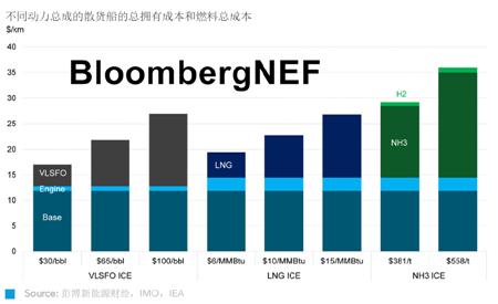 绿色氨作为航运燃料的经济性