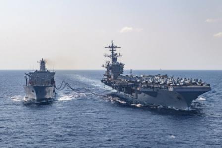 """""""罗斯福""""号航母243人确诊 美军决定让2700人下船隔离"""