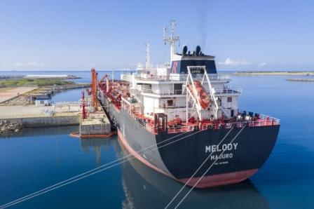 中国石化斯里兰卡汉班托塔港油库顺利完成首船进油