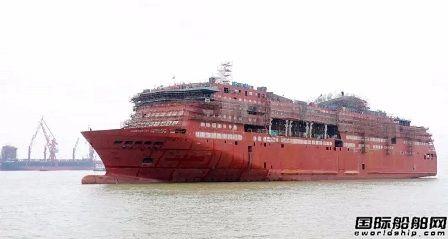 广船国际建造阿尔及利亚豪华客滚船出坞