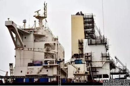 脱硫塔加装业务繁忙舟山船舶工业逆势上扬