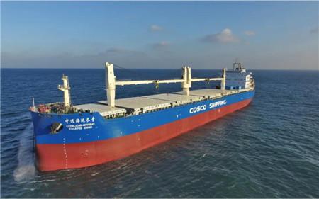 中远海运特运第6艘62000吨纸浆船命名交付
