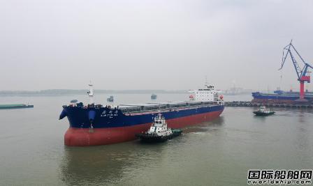 新大洋造船首制59990载重吨内贸船出海试航