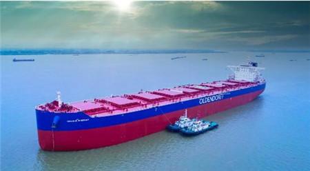 扬州中远海运重工又一艘208K散货船试航
