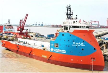 外高桥造船PSV H1351船完成坞检试航项目凯旋