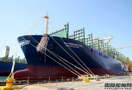 文在寅出席!大宇造船命名全球最大集装箱船