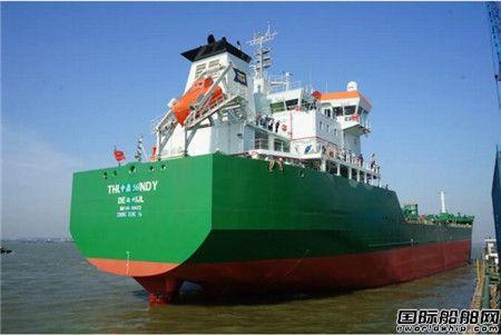 扬州金陵船厂一艘17500吨化学品船试航归来