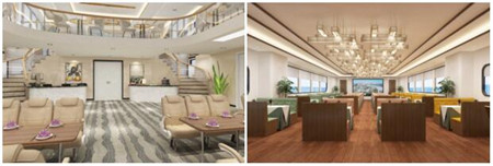 江龙船艇开建广州城港486客位纯电动游船
