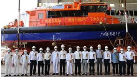 英辉南方两艘全铝合金单体高速工作船同时下水