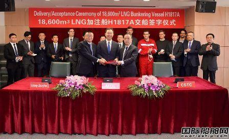 沪东中华交付全球首创最大最先进LNG加注船