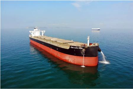 黄埔文冲首制12万吨散货船完成海试
