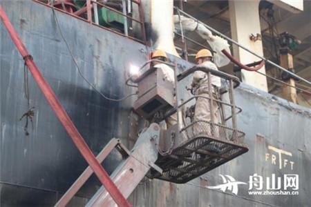 五一假期六横修船造船不停工
