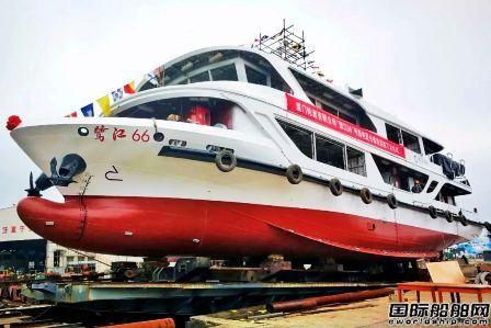 凯灵船厂建造国内首艘柴电混合动力沿海客船下水