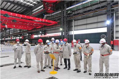 中国船舶集团高层到外高桥造船现场调研邮轮项目