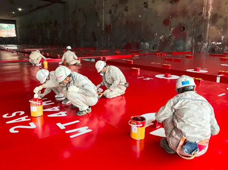 江南造船4月人均涂装物量超1000平方米创历史新高