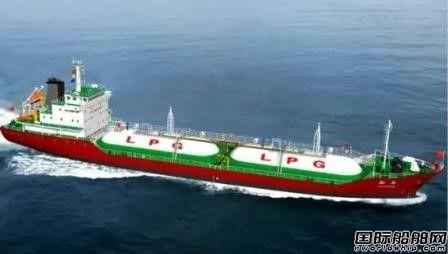 长江船舶设计院承接5500m3全压式LPG船设计