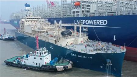 沪东中华18600方LNG加注船完成LNG加注模拟试验