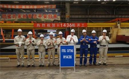 外高桥造船为PTM建造第2艘11.4万吨原油轮顺利开工