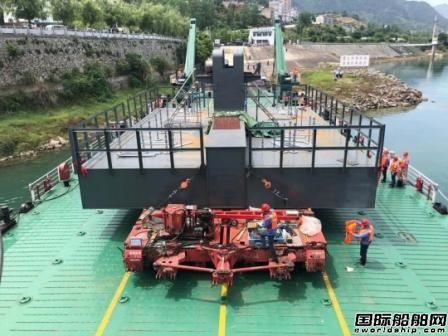 """""""长江重件1""""船圆满完成年度首次大件运输任务"""