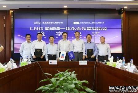 中远海运重工与沪东中华签署LNG船修造一体化合作协议