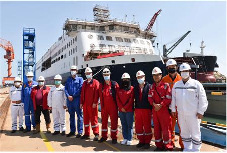 威海金陵为Stena建造第5艘高端客滚船下水