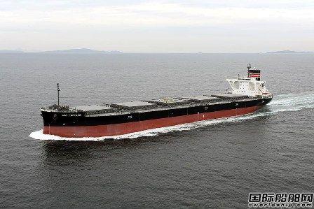 大岛造船交付日本邮船一艘91443吨散货船
