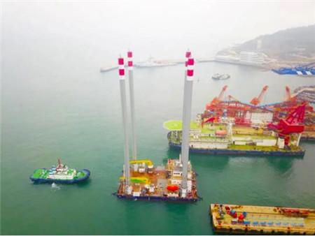 海西重机建造华东院306自升式海上勘探平台完成试航