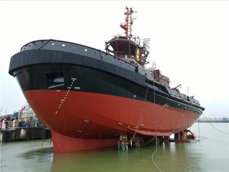 显利造船为香港友联船厂建造32米拖轮下水
