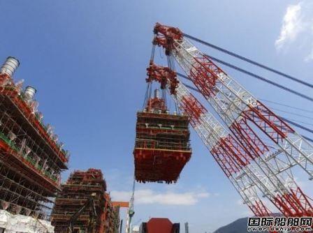 三星重工建造全球首艘深水FLNG开始上部模块整合工作