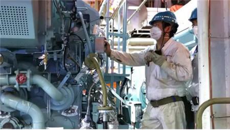 广东中远海运重工完成N801船项目发电机调试报验