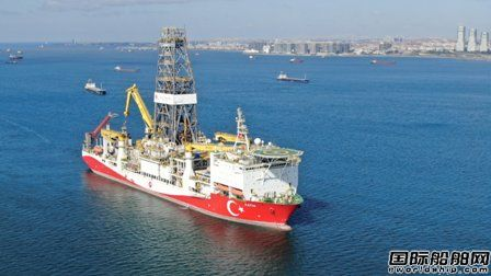 土耳其一艘第六代超深水钻井船前往黑海执行钻探任务
