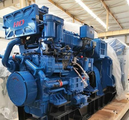 河柴重工首个TierⅢ项目停泊发电机组发机