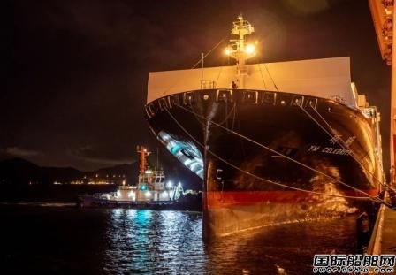 """阳明海运新一代智能船""""硕明轮""""首航蛇口港"""