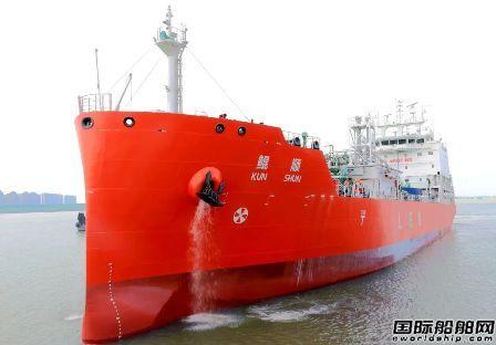金陵船厂首艘6500立方乙烯船试航归来即将交付