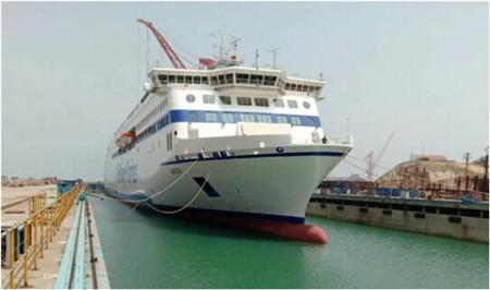 威海金陵Stena高端客滚船W0267船完成倾斜试验