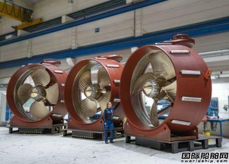 Brunvoll获大宇造船2艘穿梭油船推进器合同