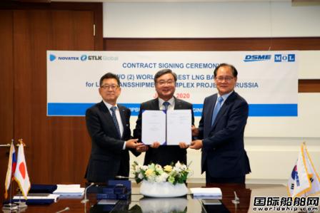 大宇造船获俄罗斯7.5亿美元LNG驳船订单