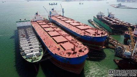 大连中远海运重工首次完成40万吨级VLOC脱硫加装工程