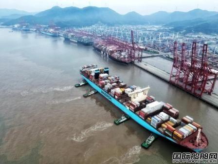 创纪录!5艘2万箱级超大型船宁波舟山港同时作业
