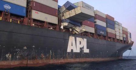 APL ENGLAND轮集装箱坠海事件原因不简单
