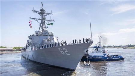"""美国海军""""菲兹杰拉德""""号驱逐舰撞船事故三年后重返舰队"""
