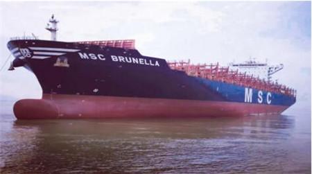 """舟山中远海运重工完成""""MSC BRUNELLA""""轮脱硫改装工程"""