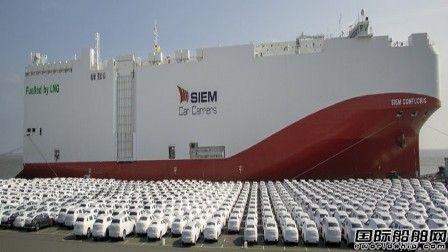 厦船重工建造全球最大LNG动力汽车滚装船开启处女航