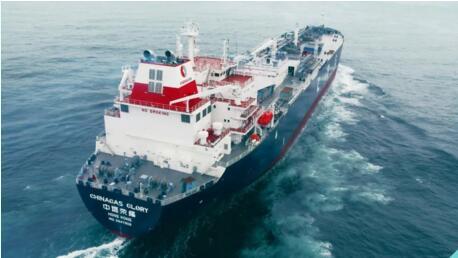江南造船又一艘VLGC船试航凯旋