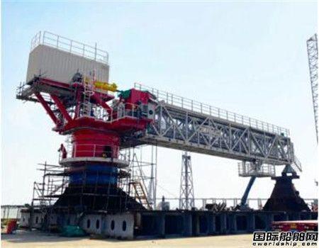 振华重工自主研制46米可伸缩式登船栈桥项目发运