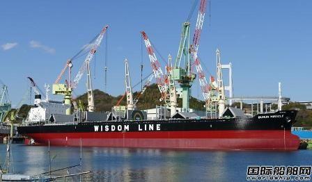 慧洋海运接收今治造船一艘37600吨散货船